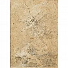 ATTRIBUTED TO MARCO BENEFIAL, (ITALIAN 1684-1764), THE ARCHANGEL MICHAEL FIGHTING OVER THE BODY OF MOSES