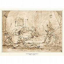 FOLLOWER OF ALESSANDRO MAGNASCO (CALLED IL LISSANDRINO), (ITALIAN 1667-1749), LIBERATION OF SAINT PETER FROM PRISON