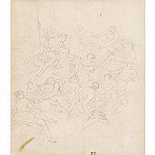 PIETRO DANDINI, (ITALIAN 1646-1712), STUDY FOR CEILING FRESCO