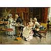 ARTURO RICCI, (ITALIAN 1854-1919), THE DRAWING ROOM, Arturo Ricci, $1,000