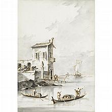 MANNER OF FRANCESO GUARDI, (ITALIAN 1712-1793), VIEW ALONG THE ADRIATIC