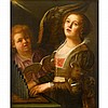 CIRCLE OF SEBASTIANO CONCA, (ITALIAN C. 1676-1764), SAINT CECELIA ACCOMPANIED BY AN ANGEL, Sebastiano Conca, $1,000