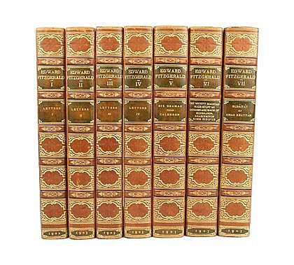7 vols. Fitzgerald, Edward. Letters and Literary Remains. London: Macmillan, 1902. 1/775. 8vo, slightly later full triple...