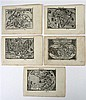 5 pieces. [Ortelius, Abraham.] Engraved Maps. [Epitome Theatri Orteliani.] [Antwerp: Chrisophorous Plantinius, 1589.] R...