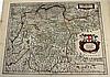 3 pieces. Bleau, [William J.], et al. Hand-Colored Engraved Maps: