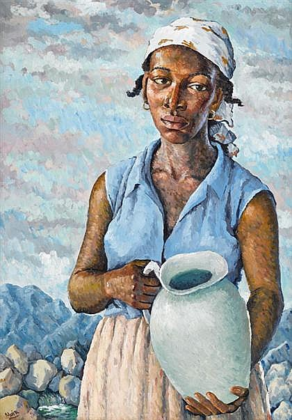 ALBERT HUIE (JAMAICAN B. 1920) 'THE WATER