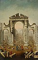 ATTRIBUTED TO GIOVANNI BATTISTA BORRA, (ITALIAN 1713-1770), THE RUINS OF PALMYRA