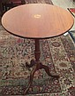 Inlaid tilt-top candlestand, ,