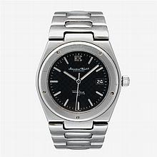 A stainless steel automatic bracelet watch with date, International Watch Co., ingenieur sl, circa 1980's