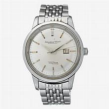 A stainless steel automatic bracelet watch with date, International Watch Co., ingenieur, circa 1950's