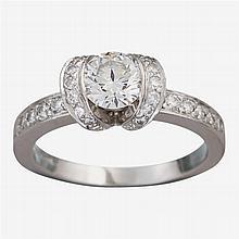 A diamond and platinum ring, Tiffany & Co.,