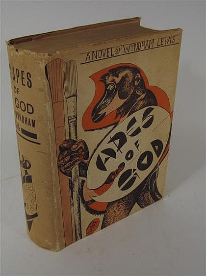 * 1 vol.  Lewis, Wyndham.  The Apes of God. London: Arthur Press, 1930. 1st ed., 1/750, out-of-series copy. Lg. 8vo, orig...