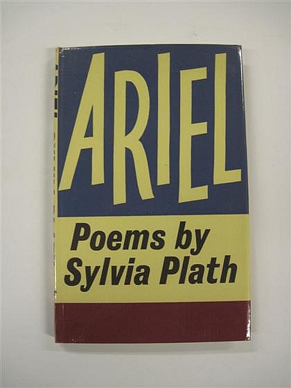 * 1 vol.  Plath, Sylvia. Ariel. London: Faber & Faber, (1965). 1st ed. 8vo, orig. deep rose cloth, gilt lettered spine; l...