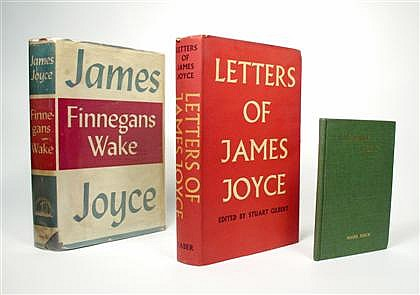 * 3 vols.  Joyce, James: Chamber Music. Boston: Cornhill, [1918]. 1st [unauthorized] ed. 16mo, orig. gilt-lettered gre...