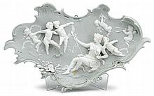German porcelain plaque, late 19th century,