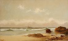 ALEXANDER CHARLES STUART, (AMERICAN 1831-1898), STEAMSHIP IN THE DISTANCE