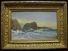 WILLIAM GIBBONS, (AMERICAN FL. 1858-1892), LION ROCK KYNANCE COVE, CORNWALL