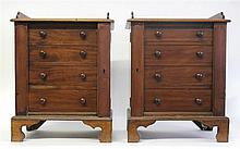 Pair of diminutive Victorian walnut