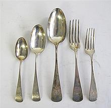 Sterling silver partial flatware service, j.e. caldwell & co., philadelphia, pa, mid-late 19th century, Comprising eight each dinner fo