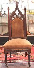 Gothic Design Side Chair, late 19th century,