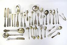 Collection of American and Continental assorted silver flatware, various makers, 19th century and earlier,