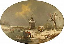 DUTCH SCHOOL, (19TH CENTURY), WINTER SCENE