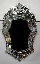 Large Venetian wall mirror, late 19th century,
