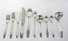 Sterling silver flatware service for six, alfred g. kintz for international silver co., meriden, ct, 1939,