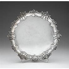 Edward VII silver tray, marples & co., sheffield, 1903-04