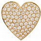 Yellow gold and diamond 'heart' pendant brooch, , Pave diamond 'heart' approximately 8.25 carat total weight, serial no. 9965.