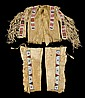 Beaded buffalo hide shirt and beaded leggings belonging to Brave Heart, member of Sitting Bull's band, late 19th and early 20th centur