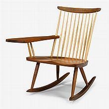 George Nakashima (1905-1990), rocking chair with arm, 1976