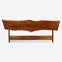 George Nakashima (1905-1990), king-size plank headboard, 1967
