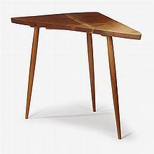 George Nakashima (1905-1990), three-legged side table, 1961