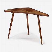 George Nakashima (1905-1990), three-legged side table, 1957