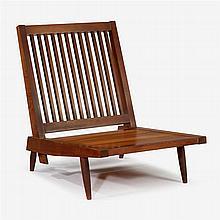 George Nakashima (1905-1990), cushion lounge chair, circa 1954