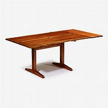 George Nakashima (1905-1990), trestle dining table with extension, 1960/61