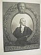 2 pieces.  Engravings. [Portraits of George Washington.] Walter, Adam B., after Peal, Rembrandt.