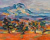 JEAN MARZELLE, (FRENCH, B. 1916), MOUNT SAINT VICTOIRE