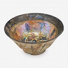Persian Kashan lustreware bowl, circa 12th-13th century