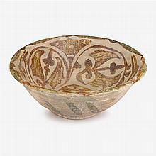 Nishapur style buffware pottery bowl,