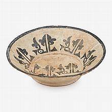 Nishapur slip-painted pottery bowl,