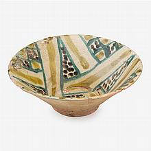 Nishapur buffware pottery bowl,