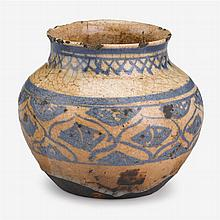 Middle Eastern pottery jar, likely Persian, 18th/19th century