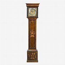 William and Mary walnut and fruitwood marquetry tall case clock, late 17th century