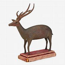 Bronze model of a stag, possibly Persian