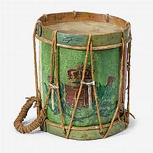 Early Georgian Scottish military drum, circa 1720, probably from the Atholl Highlanders