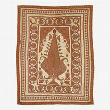 Qajar embroidered panel, 19th century