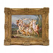 KPM hand-painted porcelain plaque, third quarter 19th century