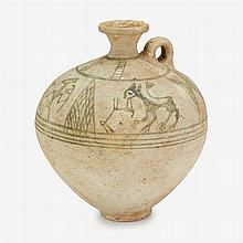Iranian terracotta ewer, circa 12th century B.C.